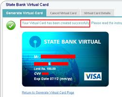 sbi virtual cards