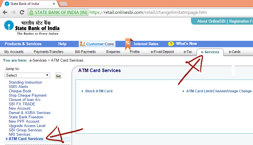 Forgot credit card pin axis bank