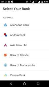 BHIM Banks List