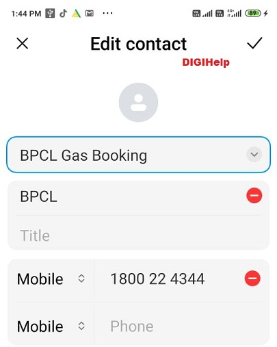 Book BPCL Cooking Gas via Whatsapp-add contact