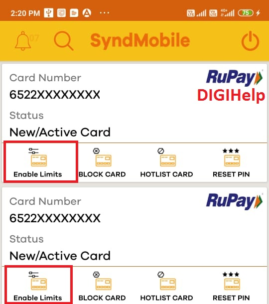 Syndicate Bank Debit Card Limit Fix