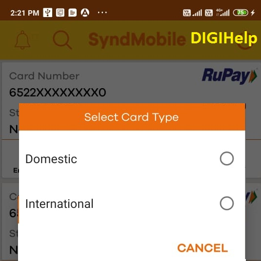 Syndicate Bank Set Debit Card Limit