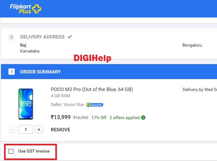 Add Customer GST Number in Flipkart - 2