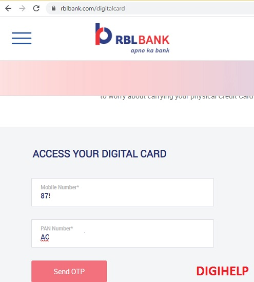 RBL Bank Digital Credit Card