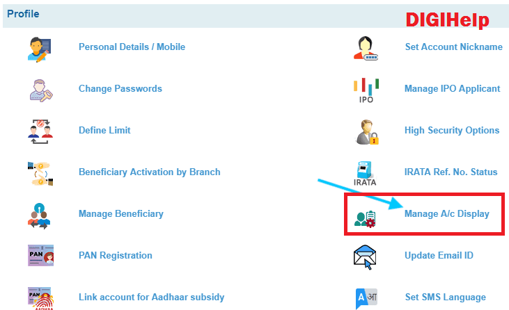 SBI-No Accounts Available for the User