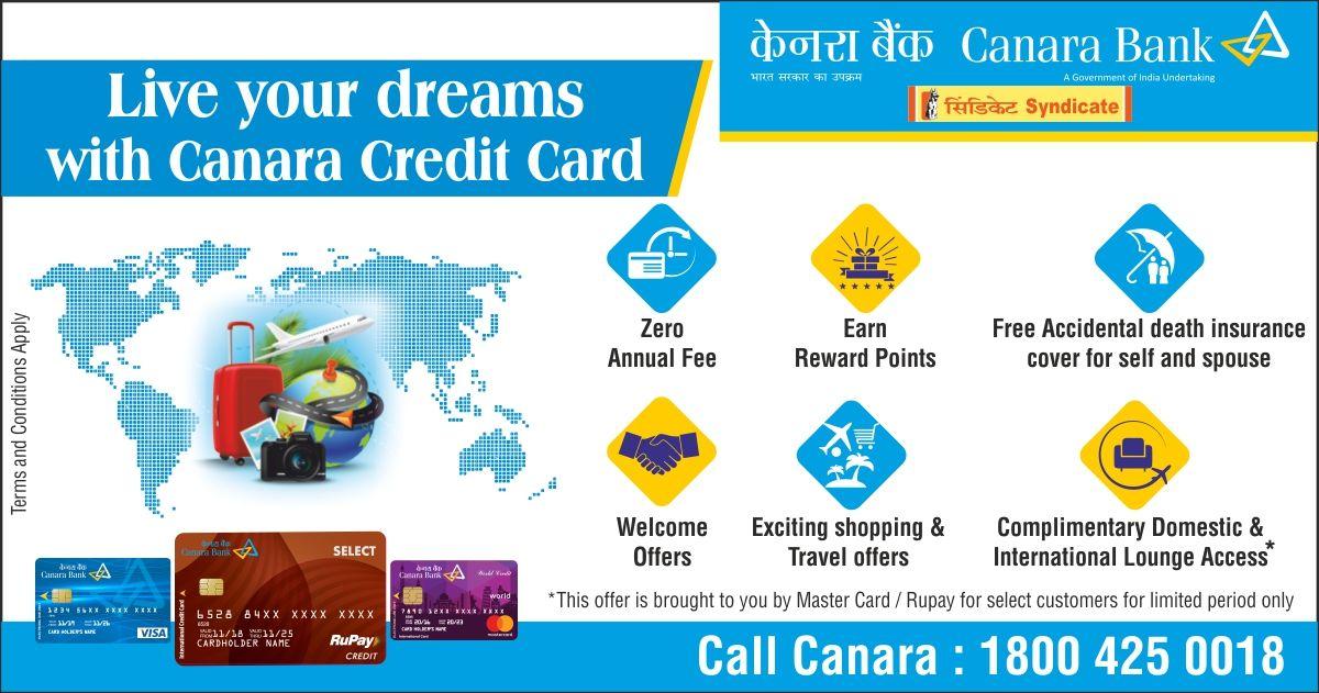 canara bank credit card emi