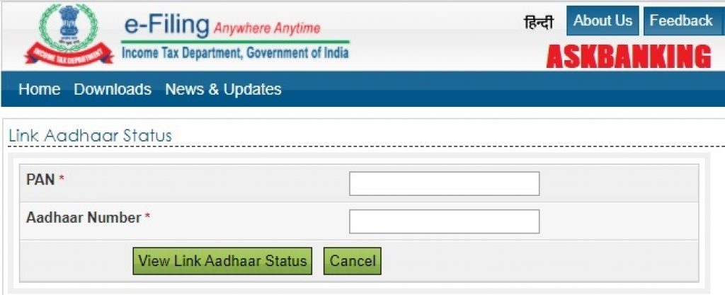 Link PAN Aadhaar Income Tax