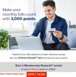 American Express Credit Card Offers on Utility Bills Payment
