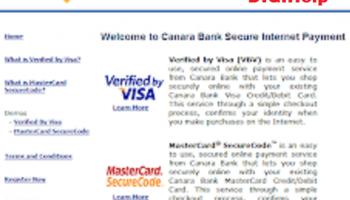 Canara Bank Debit Card Verified By Visa (VbV) Registration Process