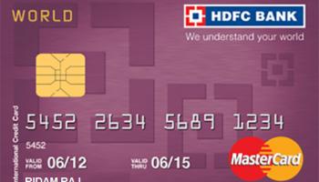 HDFC Lifetime Free World MC Credit Card Upgrades
