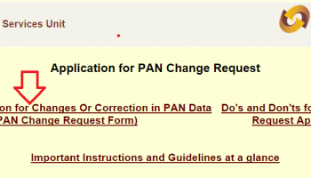 How To Make Correction in PAN Card ?