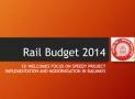 Highlights Rail Budget 2014