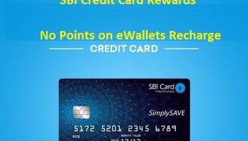 SBI Credit Card Rewards – No Points on eWallets Recharge