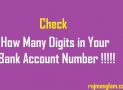 Total Digits in Bank Account Numbers in India