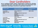 How To Block Canara Bank Credit Card Via SMS ?