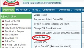How To e-Verify Returns Using Bank or Demat Account ?