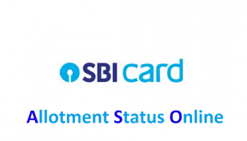 How to check SBI Cards IPO allotment ?