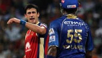 Watch : Fight Video Pollard Vs Starc in IPL