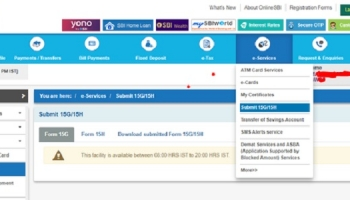How to Submit Form 15G & 15H in SBI Online?