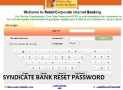 How To Reset Syndicate Bank Internet Banking Password ?