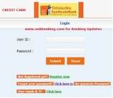 How To Login Syndicate Bank Credit Card Internet Banking ?