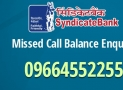 How to Activate Missed Call Banking for Syndicate Bank ?