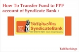 How To Make Payment To Syndicate Bank PPF Account ?